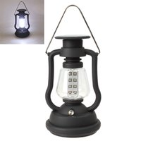 Wholesale solar panel lanterns resale online - Super Bright Outdoor LEDs Solar Panel Hand Crank Dynamo Lamp Camping Lantern
