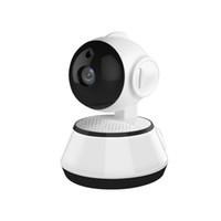 Wholesale indoor ptz cameras - 10pcs Wireless IP Camera Suveillance WIFI 720P CCTV Camera PTZ Home Security Cam Micro SD Card Slot Pet Camera Baby Monitor