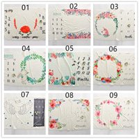 Wholesale boys photography - 8Ins Hot Newborn Baby Photography Blanket Baby Boys Girls Unisex Flowers Number Print Creative Wraps Infant Props blanket 100*100cm BHB50