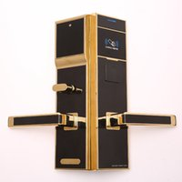 Wholesale Hotels Door Lock - Hotel electric Door control Guard Theft By Card IC Lock Zinc Alloy Magnetic Induction Intelligence Electronics waterproof case punch clock