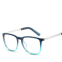 53a3477ee3 Fashion Blue Mens Optical Glasses Frames Unises Classic Square Wrap Frame  Luxury Brand Men Clear Eyeglasses Frame Male Oculos