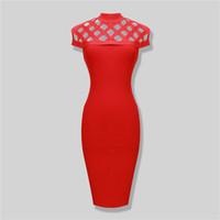 ingrosso abiti da sera prezzi bassi-Vendo inventario a prezzi bassi moda classica abito fasciatura rosso girocollo manica corta vestito da sera abito da ballo