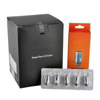 Wholesale pens core - Vape Pen 22 Coil Replacement Core Head 0.3ohm Flavour Chaser 5PCS Per Pack 0266128