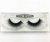 Wholesale hair feather extensions - 3D Mink lash thick real mink hair false eyelashes natural for Beauty Makeup Extension fake eyelashes free shipping