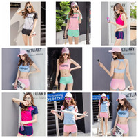 Wholesale xxxl yoga pants resale online - Letter printed tracksuit Bra Set Bra Shirt Pants Three Piece set Women Underwear Shorts Fitness Suits Sports Yoga Vest Gym Clothing GGA748