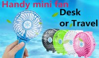 Wholesale black electric fan - 2018 Handy Usb Fan Foldable Handle Mini Charging Electric Fans Snowflake Handheld Portable For Home Office Gifts RETAIL BOX