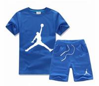 casual setler çocuklar spor takım elbise erkek çocuk toptan satış-Moda Marka Çocuk Erkek Rahat Eşofman Çocuklar Giyim Setleri Erkek Spor Takım Elbise Çocuk Erkek Spor Takım Elbise