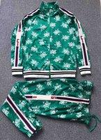 ingrosso migliori vestiti invernali per gli uomini-HHHA Una migliore versione del marchio di design Autunno Inverno abbigliamento uomo rosso verde a righe Tute lettera stampa cerniera felpa.