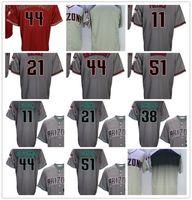 Wholesale black paul goldschmidt jersey - Men AD#11 AJ Pollock #21 Zack Greinke #44 Paul Goldschmidt #51 #38 Randy Johnson Baseball Jerseys Cheap Cool Base Player Jersey Wholesale