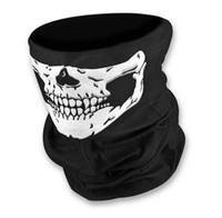 Wholesale Boys Skull Scarf - Multifunctional Seamless Magic Scarf Variety Warm Halloween Cosplay Bicycle Cs Ski Headwear Skull Half Face Bandana Party Mask in stock B11