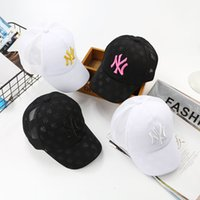 Wholesale girls sunhats - Kids Baseball Cap Embroidery Sun Hats Adjustable Snapback Hip Hop Dance Hat Summer Outdoor children White Black pink Visor sunhats