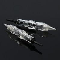 makeup para la venta al por mayor-Puntas de aguja de tornillo de maquillaje permanente de aguja de máquina de perla negra de venta caliente