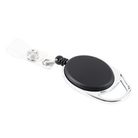 Wholesale black retractable badge reel for sale - Group buy Fashion Retractable Pull Key Ring Chain Reel ID Lanyard Name Tag Card Badge Holder Reel Recoil Belt Key Clip Classic Keychain