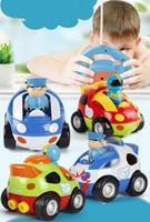 aviões de plástico rc venda por atacado-Carro RC Controle Remoto Sem Fio Elétrico Crianças Carro Modelo de Brinquedo Presentes, boneca bonito da caixa com luz e música