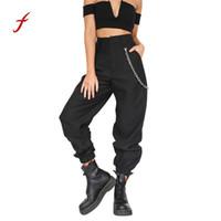 pantalones de baile holgados al por mayor-Para mujer Casual Harem Baggy Hip Hop Danza Pantalones de chándal Pantalones Pantalones cortos streetwear Mujer Verano pantalón suelto S18101606