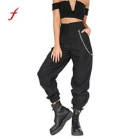 Wholesale womens baggy trousers for sale - Group buy Womens Casual Harem Baggy Hip Hop Dance Sweat Pants Slacks Trousers Bottoms streetwear Female Summer Loose Trouser S18101606