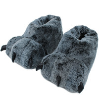 Wholesale slipper paws for sale - Group buy Dropshipping High Quality Paw Slippers Funny Animal Slippers Women Winter Monster Claw Plush Home SlipperSoft Indoor Floor Shoes