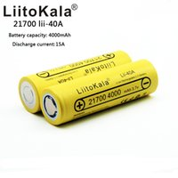 Wholesale lithium ion battery for tool - 2pcs LiitoKala Lii-40A 3.7V 21700 4000mAh 14.8W Li-ion Rechargeable Battery with Protected PCB for Electric Tool Headlamp Bicycle