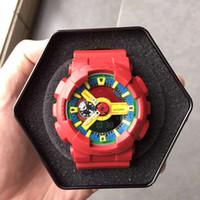 pin de verano al por mayor-2018 Relojes de diseño más vendidos Relojes deportivos de verano para hombre populares LED Impermeable Escalada Digital Shock Gift para hombres