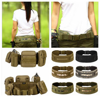 Wholesale tactical molle fabric - Tactical Waist Belt Bags Holder Outdoor Military Pack Belt Camping Hiking Molle Pouch Waistband Waterproof Nylon Waist Bag Belt DDA619