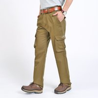 сумка для брюк оптовых-Leisure Time Autumn And Thickening Will Code Male Pants Pure Cotton In Waist Canister Man Trousers Multi Bag Work Clothes Male