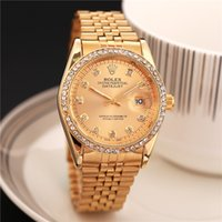 Wholesale alloy steel products - relogio de pulso diamond designer watches new luxury fashion brand product in men and women date new steel clock quartz watches for men