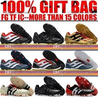 Wholesale Floor Grinding - Wholesale Tops 2018 Firm Ground Predator Precision FG Football Shoes Predator Mania Champagne FG Soccer Boots Men Indoor IC TF Soccer Cleats