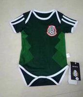 Wholesale white jumpsuit for boys - World cup russia 2018 BABY Soccer Jersey Mexico Spain Argentina Sweden Russia Belgium Colombia Jumpsuit for baby 1 - 2 years BOYS GIRLS