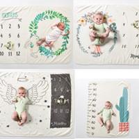 fond pour la photographie des enfants achat en gros de-INS enfants aile Licorne imprimer Couvertures photographie fond accessoires nourrisson Swaddling fleur numérique bébé nouveau-né s'enroule 70 * 102cmC4432