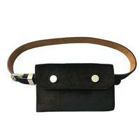 velvet korean fashion UK - [EWQ] New Auaumn 2018 Hot Sale Korean Black Gray PU Metal Cheaper Women All-match Belt Bag Velvet Fashion Tide MA78901