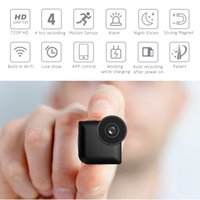 p2p rauchmelder wifi kamera großhandel-Heißer Verkauf HD 720P Digital Mini Videokamera mit Bewegungserkennung Digitale Nachtsicht Mini Wifi Körper Videokamera