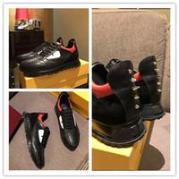 yeni kürk botları toptan satış-2019 En Kaliteli FD Lüks Markalar EĞLENCELI KÜRK tasarımcı sneaker ayakkabı hakiki deri Hediye erkek kadın Racer Sıcak satış Spor rahat çizmeler Yeni y1