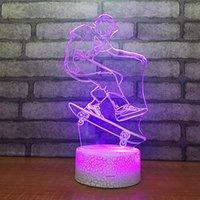 светодиодная продукция оптом оптовых-Оптовый творческий продукт Пользовательский подарок 3d Lamp Led Table Спальня Украшение Воздух Малый свет ночи Led Usb Kids Lamp