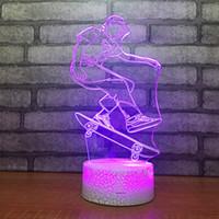 светодиодная продукция оптом оптовых-Оптовая творческий продукт пользовательские подарок 3d лампы Светодиодные таблицы спальня украшения воздуха небольшой ночник светодиодные Usb Дети лампы