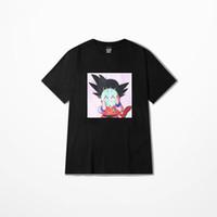 desenhos animados dos shorts dos homens venda por atacado-2018 dragon ball mulheres homens t-shirt hip hop streetwear wukong Mestre Roshi harajuku Anime Dos Desenhos Animados encabeça verão curto tshirt