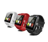 мобильные телефоны mtk оптовых-MTK чип Часы Браслет Android Bluetooth Smart Watch 6260/6261a 230mah / 160mah интеллектуальный мобильный телефон u8 Смарт-часы
