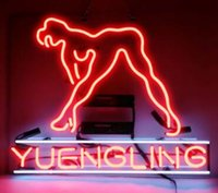 sieg-neon-zeichen groihandel-Custom New Yuengling Live Nudes Girl Real Glass Neon Sign light Beer Bar Sign Send need photo 19x15""