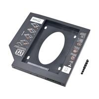 sata dizüstü bilgisayar sabit disk muhafazası toptan satış-CHIPAL Yeni Evrensel 9.5mm 2nd HDD Caddy SATA 3.0 Plastik Malzeme 2.5 '' SATA SSD Sabit Disk Caddy Kasa Muhafaza Laptop ODD