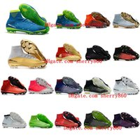 Wholesale Crampons Shoe Spikes - 2018 ronaldo soccer cleats leather mercurial superfly cr7 Quinto Triunfo V FG AG Crampons de football boots SX neymar soccer shoes mens Gold