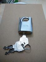 fechaduras para móveis venda por atacado-Yue Ma Metade Encoberto Shackle Cadeado Móveis de Prata Bloqueio com 3 Chaves Fechaduras para Janelas Sacos de Gavetas Armários
