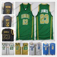 Wholesale ucla basketball jersey - High School Irish #23 LeBron James Gold Jersey Green White Yellow Purple 2018 NCAA UCLA #2 Lonzo Ball 0 Kyle Kuzma Black S-3XL
