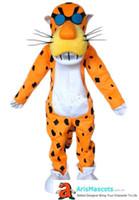 ingrosso costumi da cartone animato-Costume della mascotte del ghepardo del chester adulto di 100% foto reali, vendita dei costumi della mascotte del personaggio dei cartoni animati, mascotte professionali, costumi della mascotte della gente