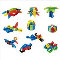 metais de construção venda por atacado-Misturar Inteligência Colorida Brinquedos Jigsaw Puzzle Terno Flexível Blocos Magnéticos Folha De Metal Crianças Kit de Construção de Primeira Infância 28xt W