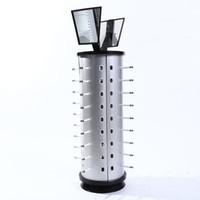 bastidores de marco al por mayor-DROP envío 44pair gafas de sol gafas de rack de almacenamiento Soporte de exhibición estante de las lentes marco redondo con espejo