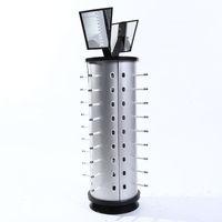 tischplatte steht großhandel-Tropfen 44pair sonnenbrille lagerregal gläser display-ständer tischplatte brillen regal rahmen halter runde mit spiegel