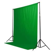 ingrosso sfondo musulmano verde-Vendita calda Colore verde Cotone Non inquinante Tessile Mussola Sfondi fotografici Studio Fotografia Schermo Chromakey Panno sullo sfondo