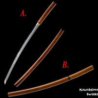 espadas de aço japonês venda por atacado-Japonês Katana / Wakizashi Real Aço 1045 Shirasaya Samurai Espada Lâmina Afiada Nova Marca de Fornecimento Decorativo / Display Espadas