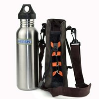 Wholesale Country Style Bags - Heecn outdoor stainless steel sports bottle american style steel 750ml sports bottle water cage