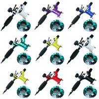 kits de tatuaje al por mayor-Besta 7 colores Dragonfly Rotary Tattoo Machine Shader Liner Tatoo Motor Gun Kits Suministro Para Artistas Con Aguja Agar tatuaje