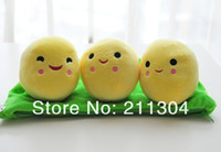Wholesale Friends Tv Series - Wholesale- Free Shipping Plush Toys 38cm length three peas pillow cushion soft stuffed super cute doll kids friends gift (middle size)